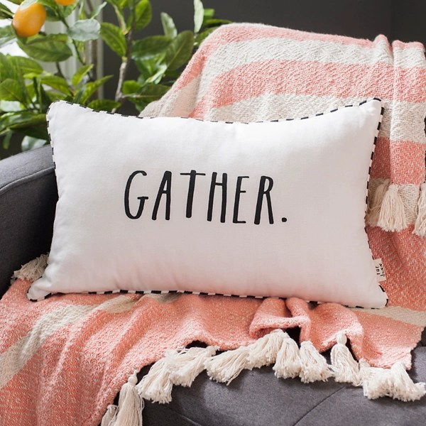 rae dunn gather accent pillow