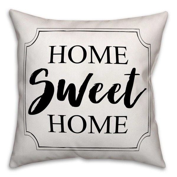 home sweet home outdoor pillow