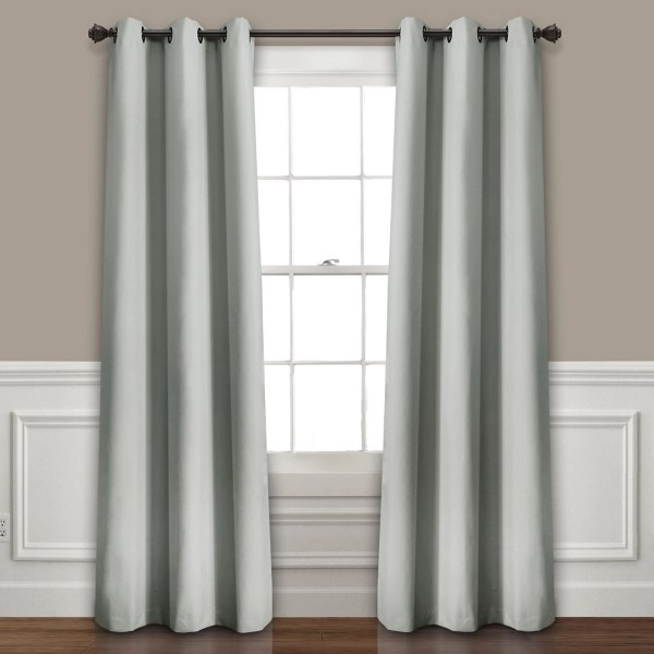 light gray blackout curtain panel set 108 in
