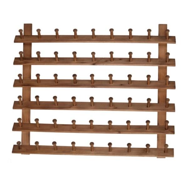multi peg wooden wall rack