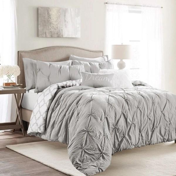 light gray ravello tuck 5 pc king comforter set