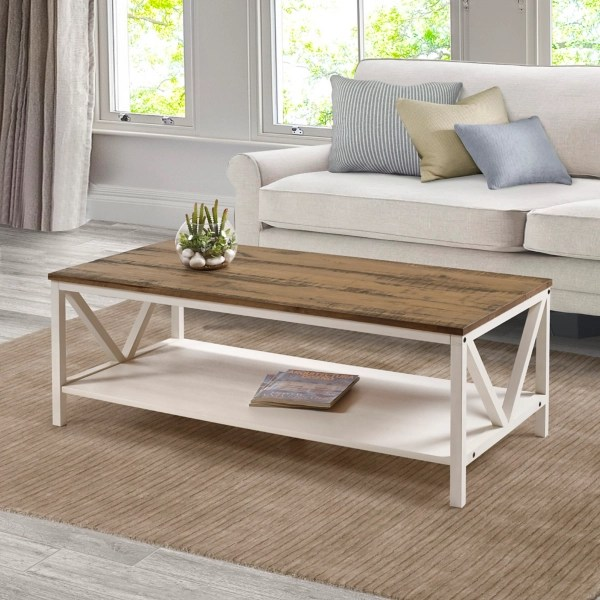 white wash distressed barnwood coffee table