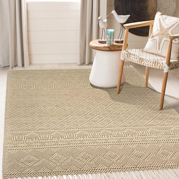 cream handwoven bohemian day dream area rug 7x9