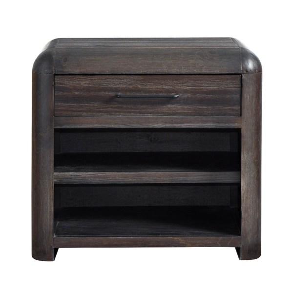 dark brown wooden nightstand