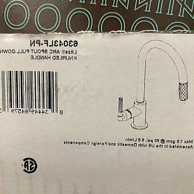 brizo 63043lf pn litze pull down faucet