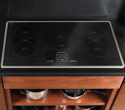 kitchen aid cooktop chairs with wheels 5 burner black induction kicu569xbl kitchenaid