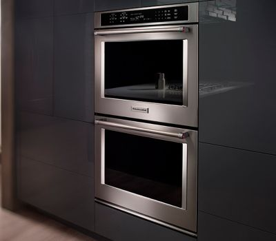 kitchen aid ovens diy outdoor plans kitchenaid kode507ebs 27 double wall oven with even heat true fit system guarantee