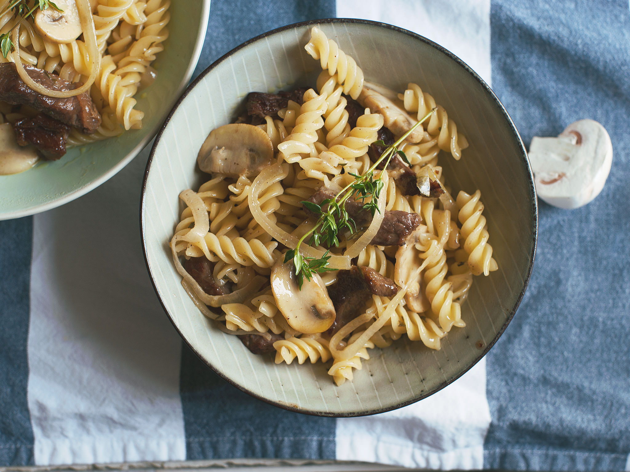 Pasta With Beef And Creamy Mushrooms Recipe Kitchen Stories