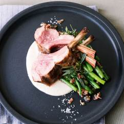 Kitchen Tongs Drop Ceiling Lighting Grilled Racks Of Lamb With Green Beans And Onion Purée ...