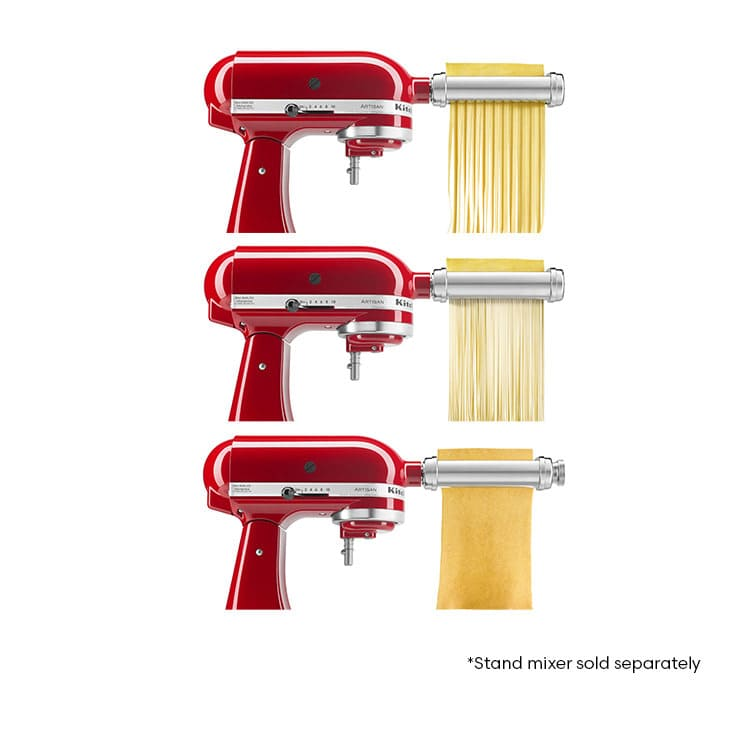 kitchen aid pasta attachment shaker style cabinets kitchenaid 3pc roller set on sale now 289 00
