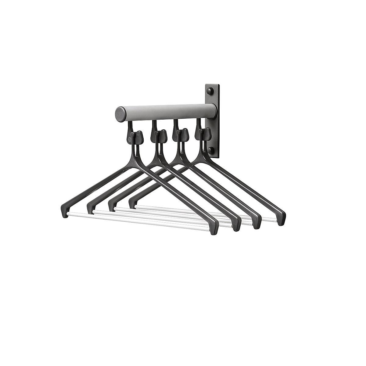 eurokraftpro small wall mounted coat rack made of aluminium pack of 2