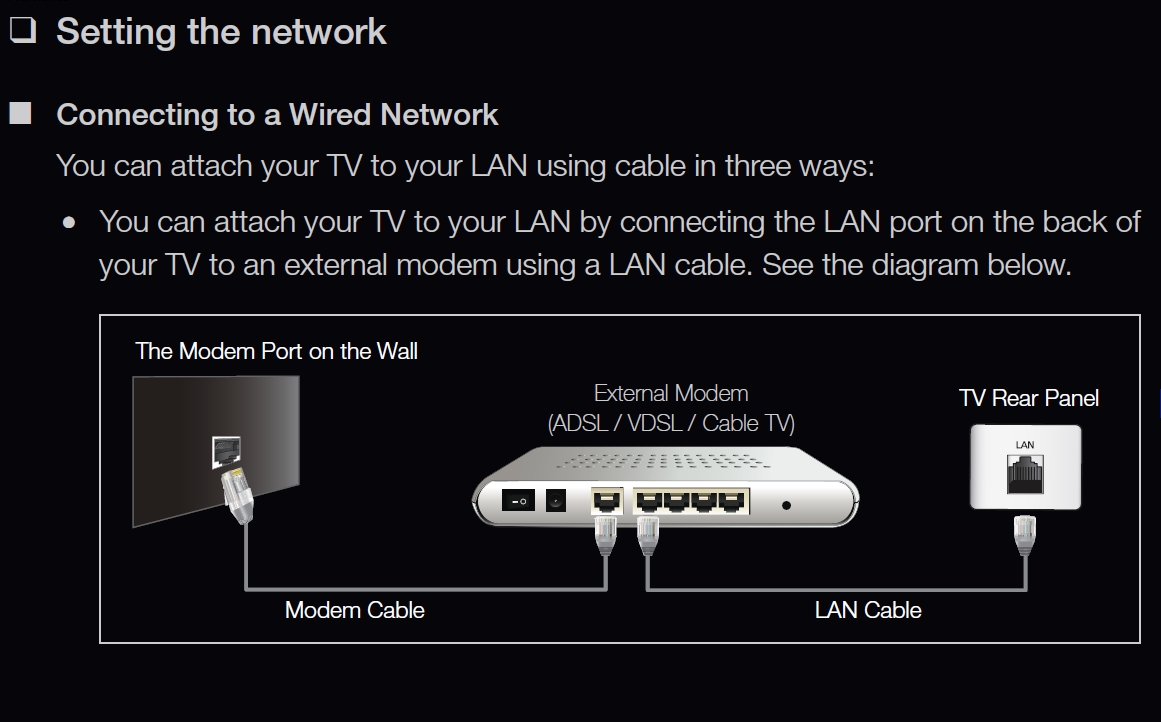 Samsung_Wired_Network_Setup 01?resize\\\\\\\=665%2C414 terrific home cable tv wiring diagram images wiring schematic Trailer Wiring Diagram at bayanpartner.co