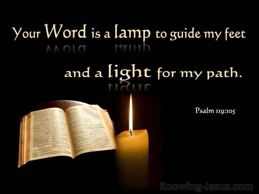 Bible Quote Wallpaper 2560x1600 Psalm 119 105 Your Word Is A Light To My Path Black