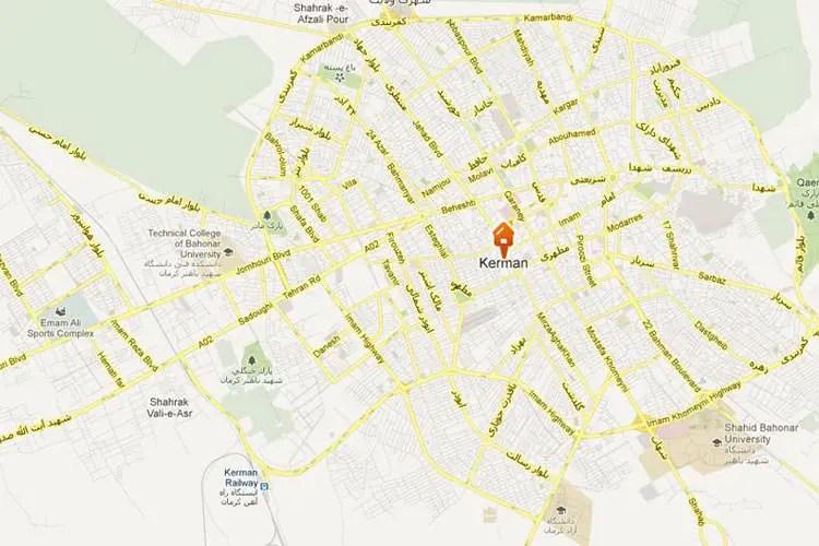 نقشه کرمان