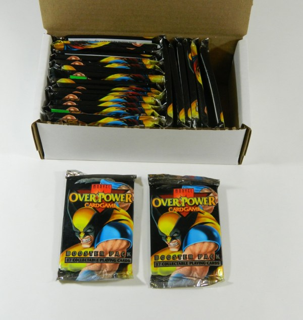 Lot Of 24 1995 Marvel Overpower Card Game Booster Packs
