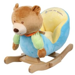 Chair For Baby Best Office Hemorrhoids Plush Bear Rocking Kids Toy Ride Rocker Toddler Ebay Details About