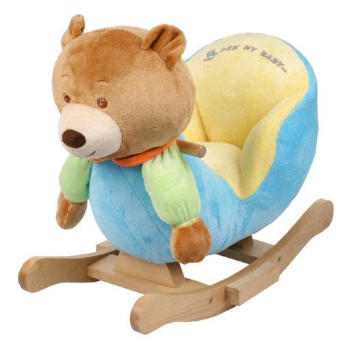 rocking chair baby cute chairs for kids plush bear toy ride rocker toddler ebay details about