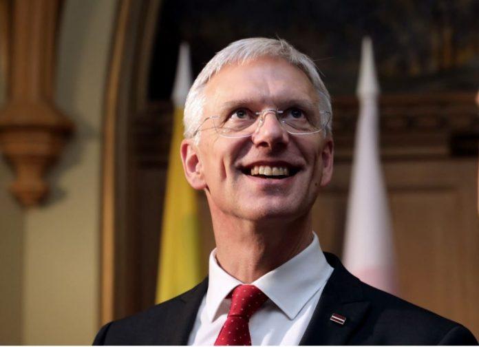 The Prime Minister of Latvia Krišjānis Kariņš.