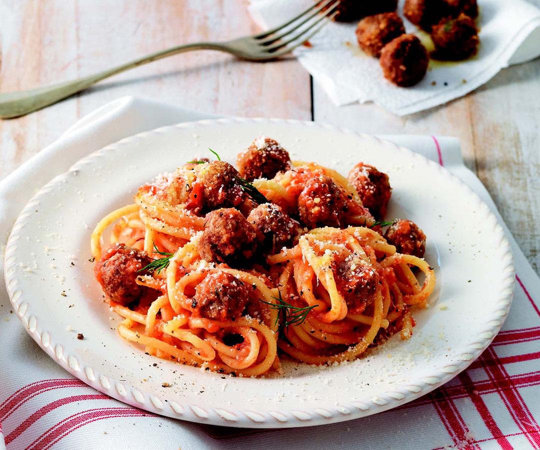 Ricetta Spaghetti con polpettine  Le ricette de La Cucina