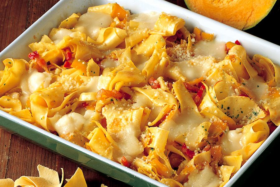 Ricetta Pasticcio di pappardelle alla zucca  La Cucina Italiana