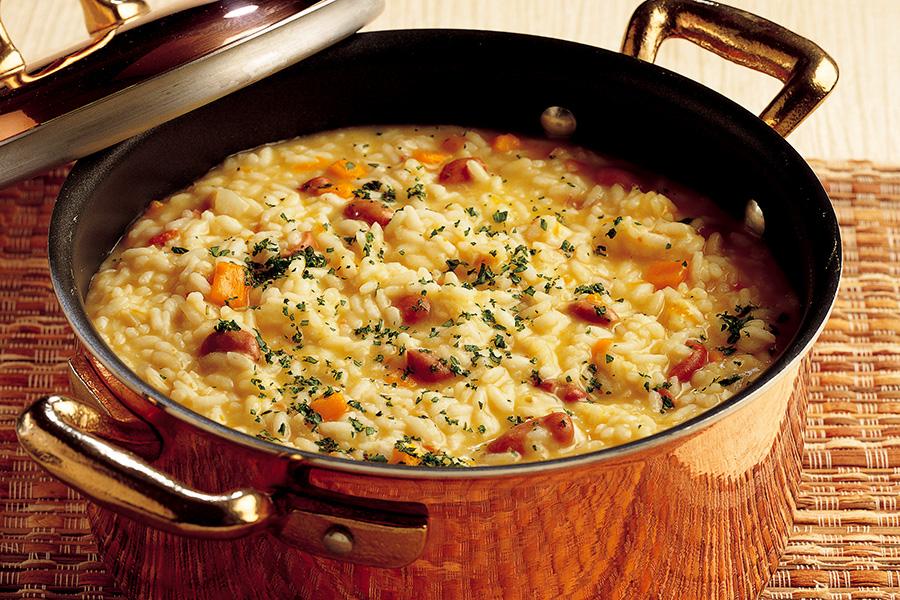 Ricetta Risotto con zucca e fagioli  La Cucina Italiana