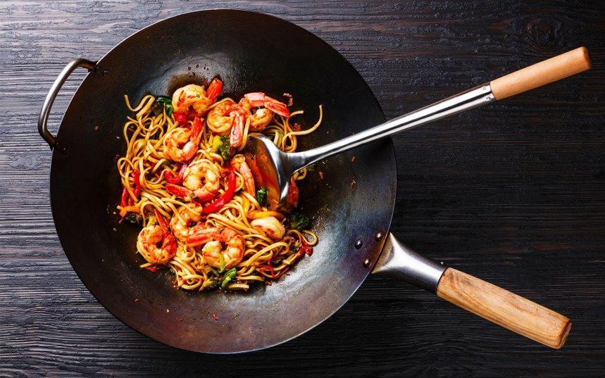 wok pentola cottura al vapore griglia fritture leggere ricette la cucina italiana