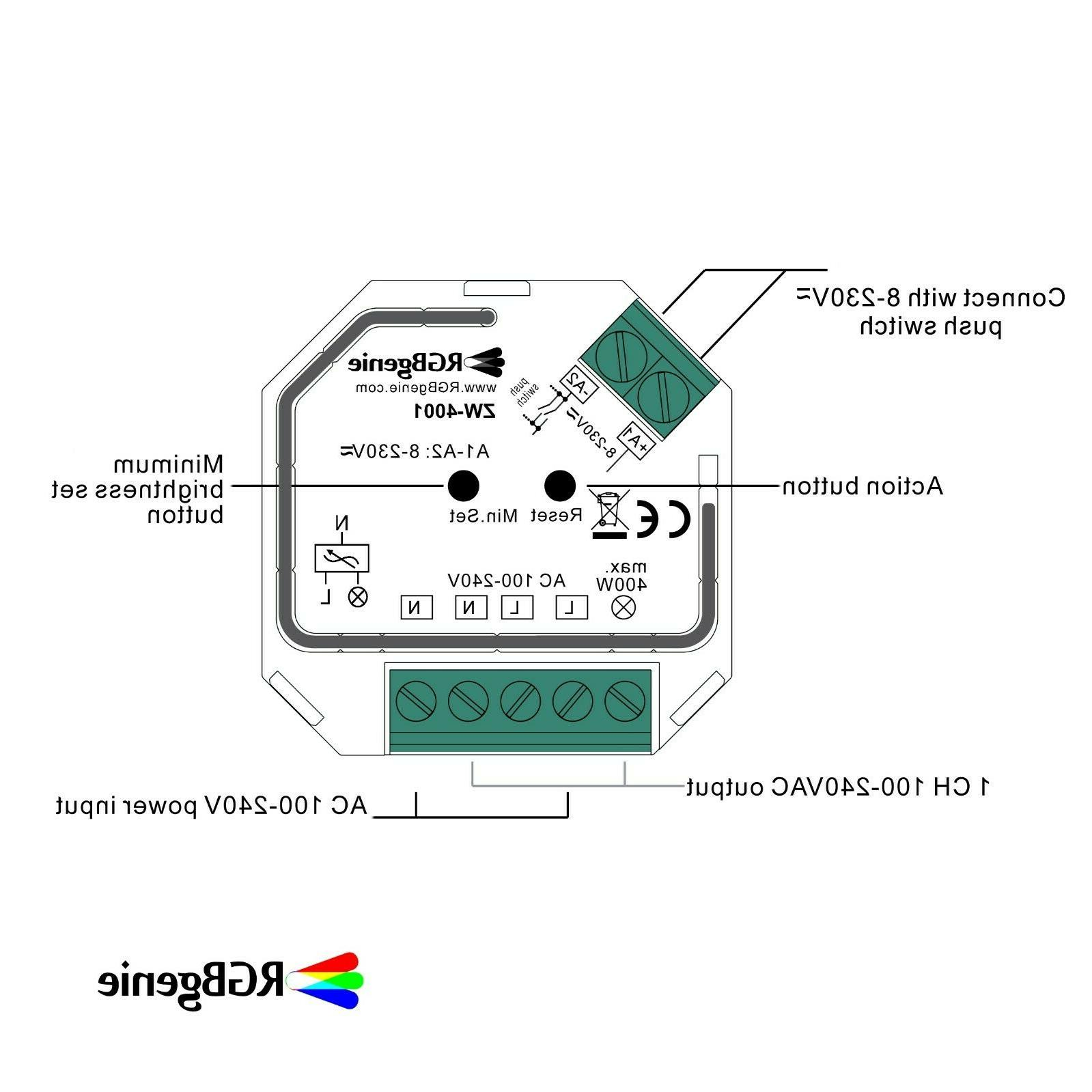 Z-Wave Micro Controller and Lamp Module, Trailing Edge