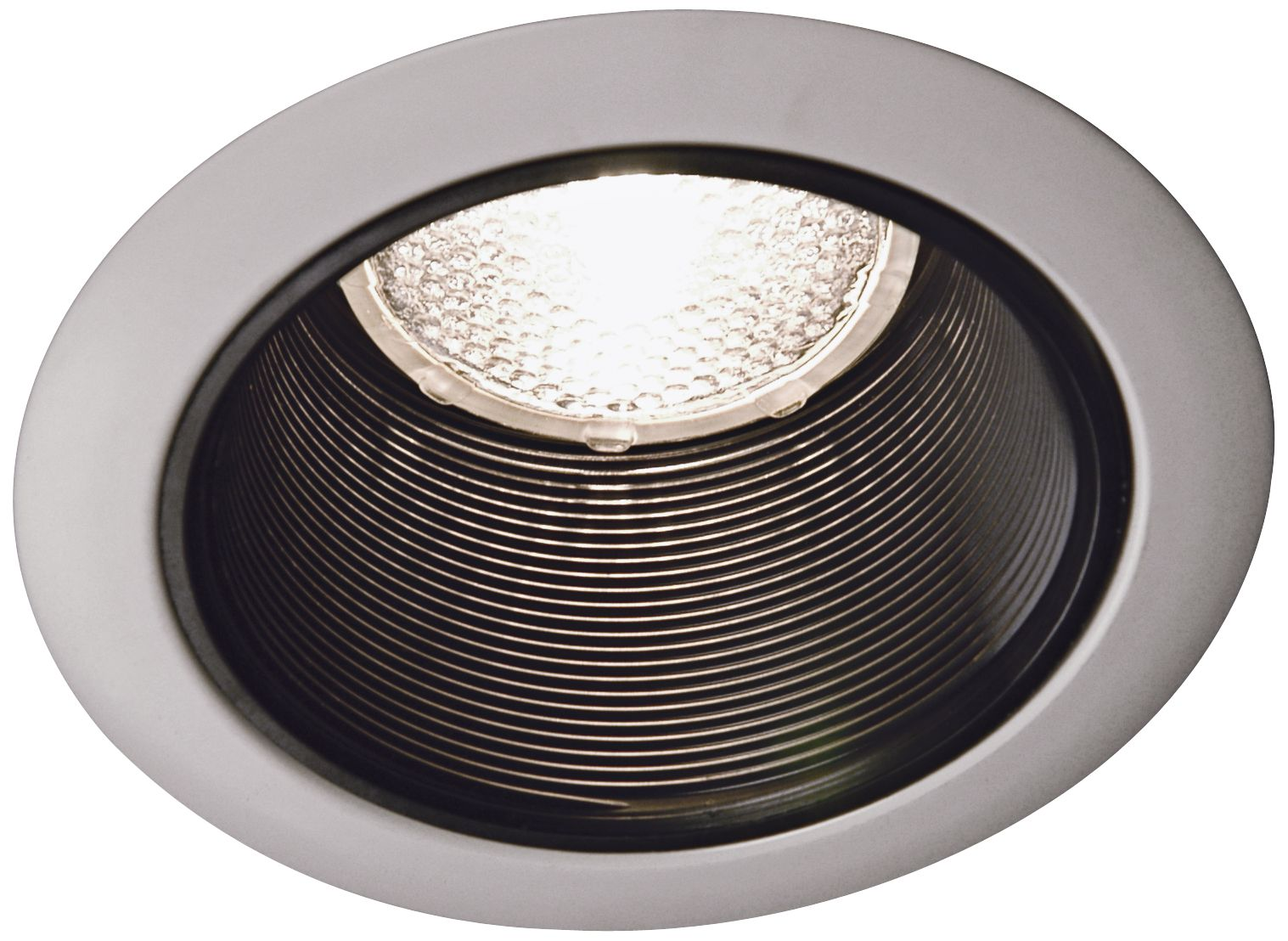 juno 4 black baffle white trim recessed light