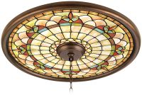 "Tiffany Tracery 24"" Wide Bronze Finish Ceiling Medallion ..."