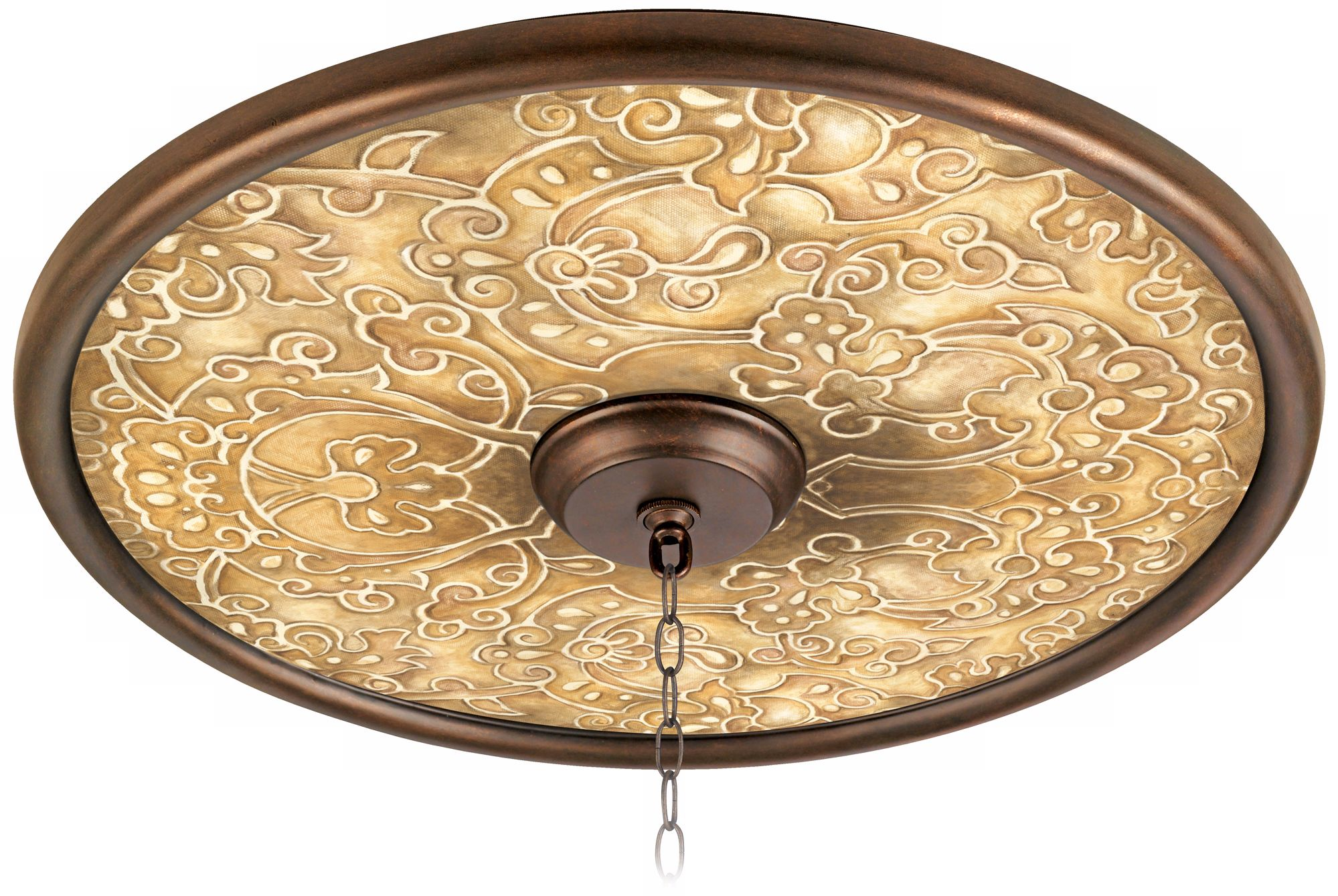 """Orleans Scroll 24"""" Wide Bronze Finish Ceiling Medallion"""