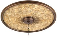 "Orleans Scroll 24"" Wide Bronze Finish Ceiling Medallion ..."