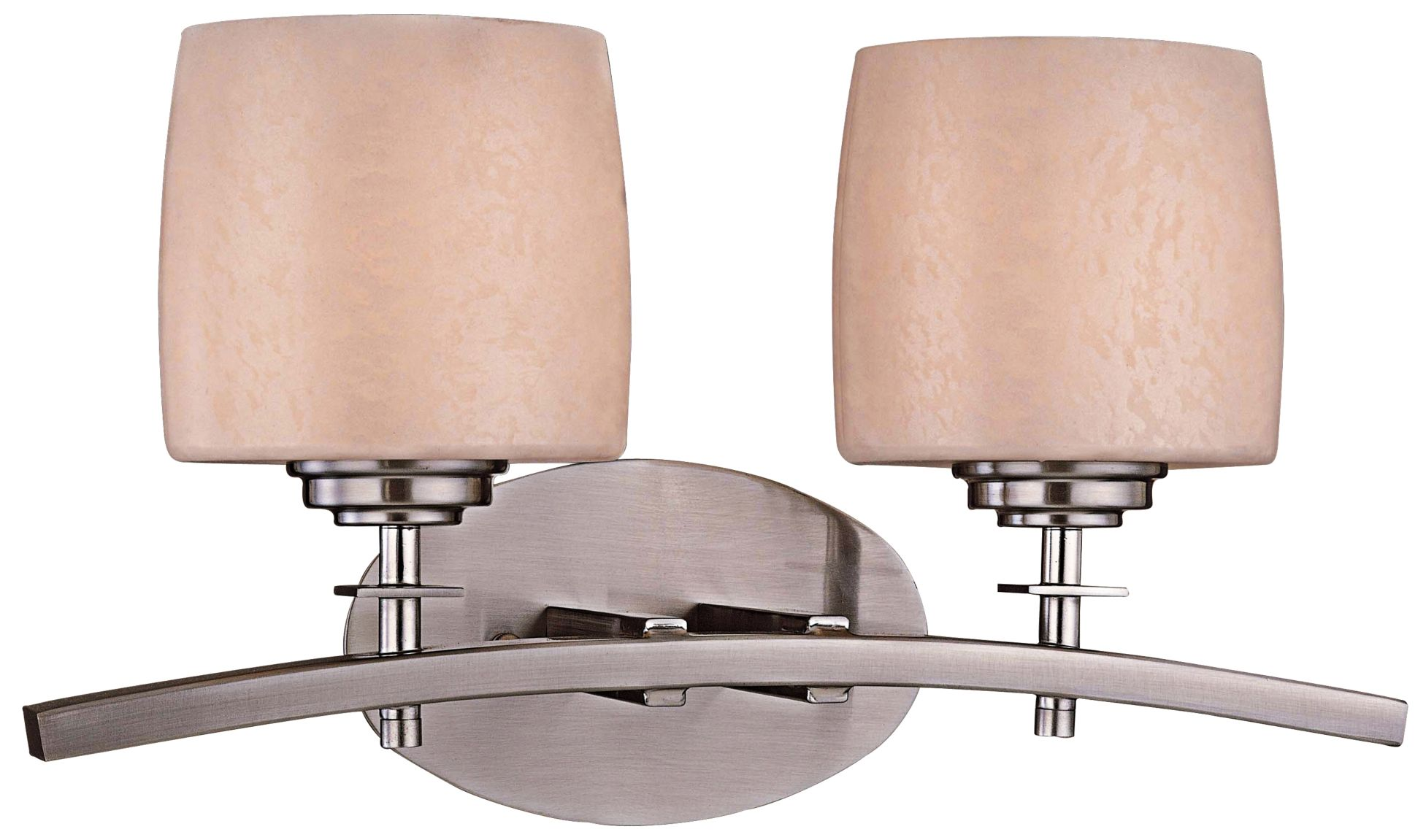Brushed Steel Transitional Bathroom Lighting  Lamps Plus