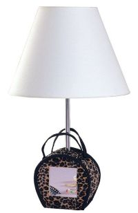 Animal Print Purse with Mirror Table Lamp - #05356 | Lamps ...