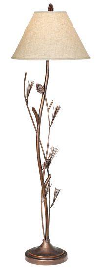 Pinecone Iron Floor Lamp - #08593 | Lamps Plus