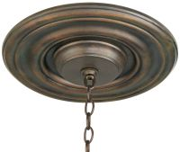 "Bressner 12"" Wide Bronze Ceiling Medallion"