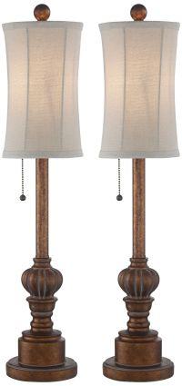 """Bertie 28"""" High Tall Buffet Table Lamps Set - #10V33 ..."""