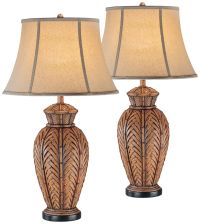 Onairo Wicker Night Light Table Lamp Set of 2 - #11P02 ...