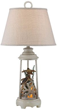 Turtle Reef Night Light Table Lamp - #11T90 | Lamps Plus