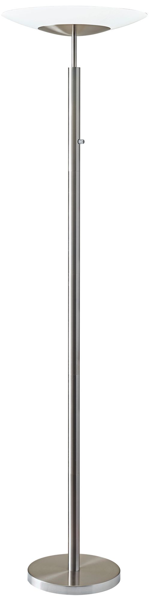 Stellar Brushed Steel LED Torchiere Floor Lamp  12W17