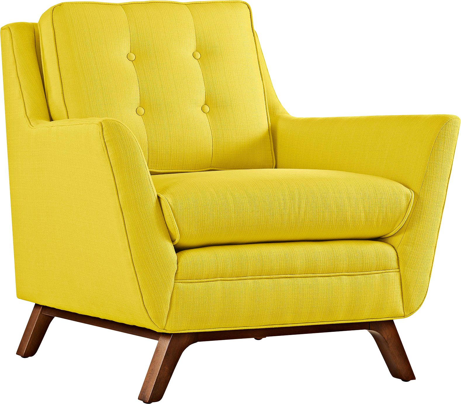 tufted yellow chair italian leather chairs beguile sunny fabric armchair 13h44 lamps plus