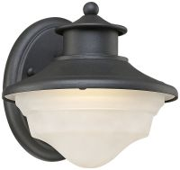 "Stokes 7 1/4"" High Black LED Outdoor Wall Light"