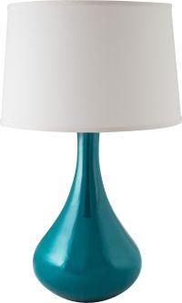 RiverCeramic Genie Gloss Ocean Table Lamp - #13V21   Lamps ...
