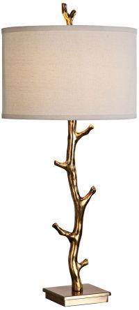 Uttermost Javor Antiqued Gold Tree Branch Metal Table Lamp ...