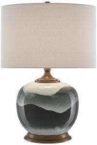 Boreal White and Green Porcelain Table Lamp - #17Y70 ...