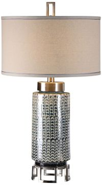 Uttermost Vanora Ceramic and Brushed Nickel Table Lamp ...