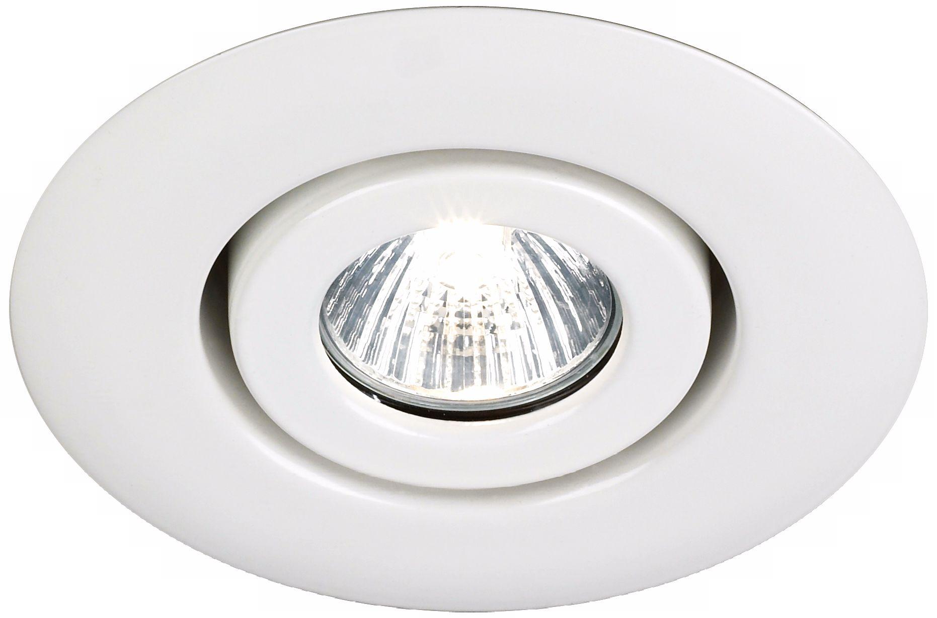 juno 4 low voltage white gimbal recessed light trim