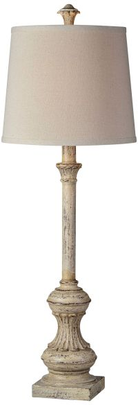 Forty West Wilma Cottage White Candlestick Buffet Lamp ...