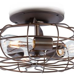 Ceiling Fan Light Kits Gretsch Electromatic Wiring Diagram Rubbed Bronze Vintage Cage Led Kit 19r82 Lamps Plus