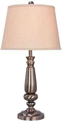 Louisburg Brushed Black Nickel Metal Table Lamp - #1D850 ...