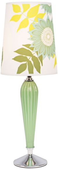 Colette Apple Glass Table Lamp with Anna Green Shade ...